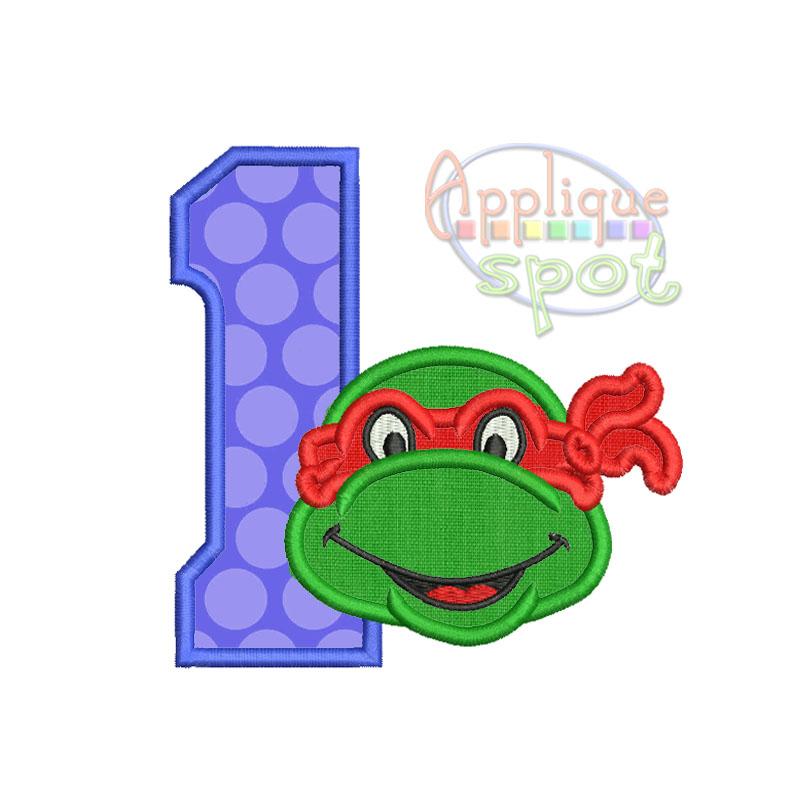 ninja turtle birthday numbers set 1 to 9  u2013 applique spot