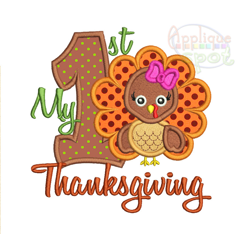 my first thanksgiving applique spot. Black Bedroom Furniture Sets. Home Design Ideas